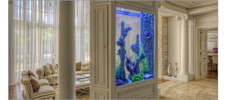 Small private acrylic aquarium